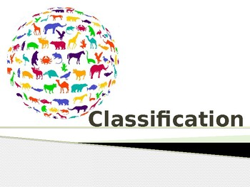 Classification Presentation - Grades 5-8