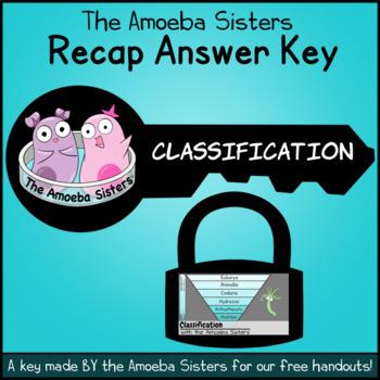 Classification Recap Answer Key by The Amoeba Sisters (Answer Key)