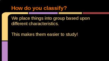 Classification Slideshow