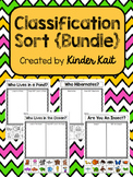 Classification Sort Bundle {Ocean, Pond, Hibernation and Insect}