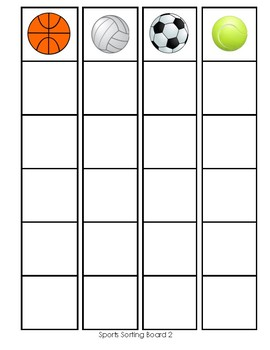 Classification Sorting Activity: Sports