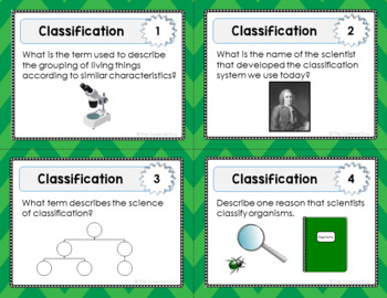 Classification Task Cards