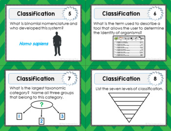 Classification Task Cards - Distance Learning Compatible