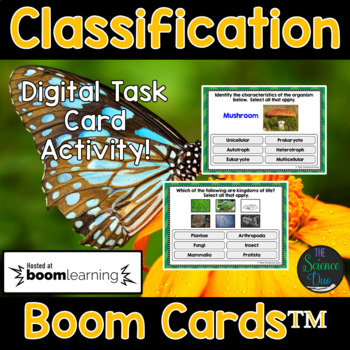 Classification Task Cards - Digital Boom Cards™