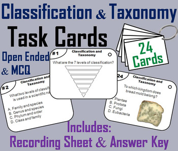 Classification Task Cards/ Taxonomy Task Cards