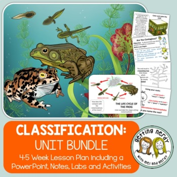 Classification of Living Things and Viruses - PowerPoint and Handouts Unit