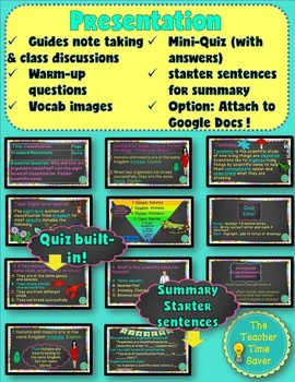 Classification Unit Lesson (Notes, Presentation, and Activity)