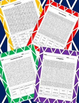 Classification Word Searches