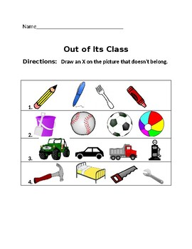Classification Worksheet #4