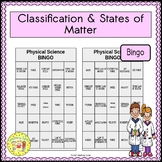 Classification and States of Matter BINGO