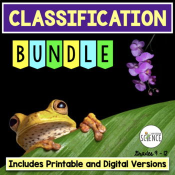 Classification Bundle PowerPoint, Labs, Activities, Task Cards, Tests Bundle