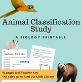 Classification and Taxonomy Ladder Printable