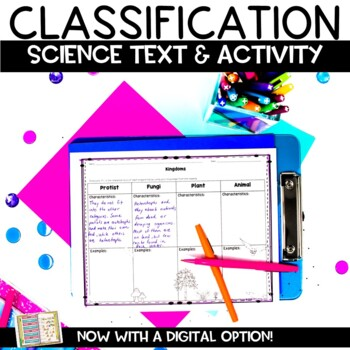 Classification and Taxonomy Printable Nonfiction Article and Graphic Organizer