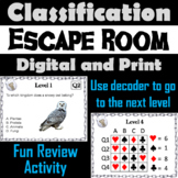 Classification and Taxonomy Activity: Escape Room - Science