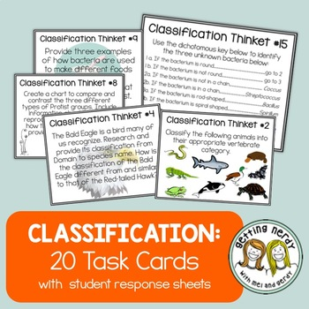 Classification - Task Cards