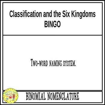 Classification and the Six Kingdoms BINGO