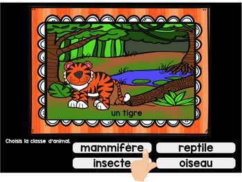 Classification des animaux: French Classification Digital Task Cards BOOM CARDS