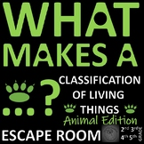 Classification of Animals - ESCAPE ROOM: Sorting animals using 10 challenges
