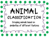 Classification of Animals Graphic Organizers