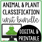 Classification of Animals and Plants Unit: Distance Learning