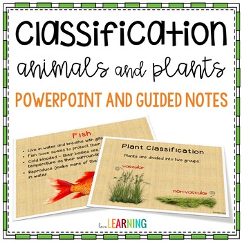 Classification of Animals and Plants Lesson