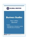 Classification of Business Activities- A  Quiz