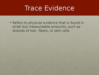 Classification of Evidence Powerpoint