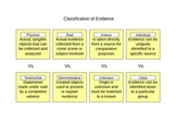 Classification of Evidence graphic organizer- Forensic Science