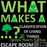 Classification of Green Plants: Science ESCAPE ROOM - 9 Challenges to solve