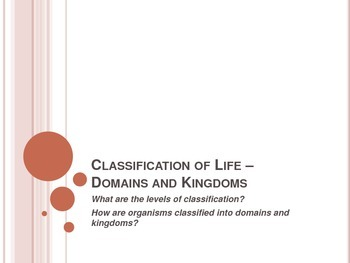 Classification of Life - Domains and Kingdoms - Interactiv