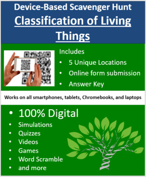 Classification of Living Things – A Digital Scavenger Hunt Activity