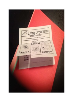 Classification of Living Organisms Foldable