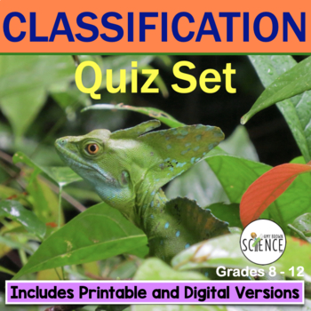 Classification of Living Organisms (Taxonomy) Quiz