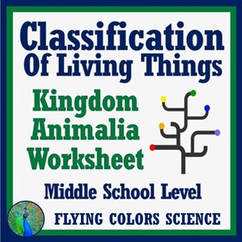 Classification Of Living Things Animal Kingdom Overview Worksheet
