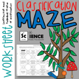 Classification of Living Things Maze Worksheet for Review or Assessment