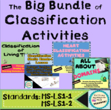 Classification of Living Things Passage Worksheets and Act