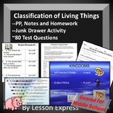 Classification of Living Things -- PowerPoint, Activities, Review + Tests