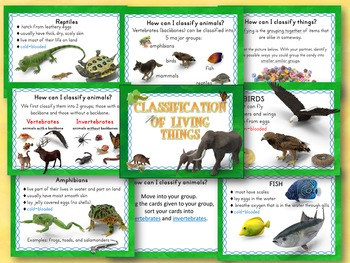 Animal Classification of Living Things PowerPoint and Interactive Notebook