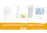 Classification of Living Things Quiz
