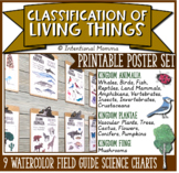 Classification of Living Things, Science Field Guide Chart