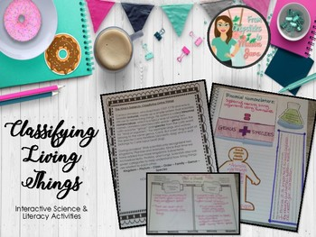 Classification of Living and Non-living Things Science & Literacy Bundle