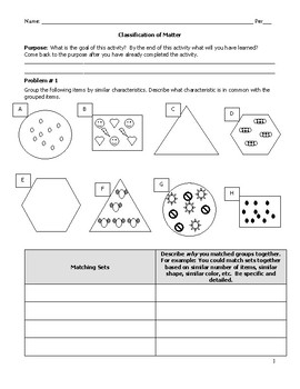 Classification Of Matter Worksheet Answer Key Physical ...
