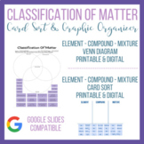 Classification of Matter Graphic Organizer and Card Sort | Digital Learning