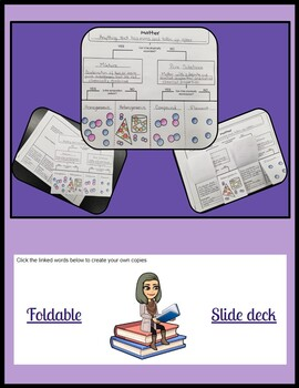 Classification of Matter Foldable and Slidedeck