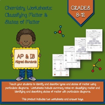 Classification of Matter Notes and Worksheet by Chemical ...