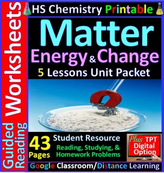 Types of Matter (Elements, Compounds, Mixtures) - Guided Study Notes for HS Chem