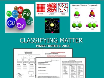 Classification of Matter: Questions, Practice, Concept map and KEY