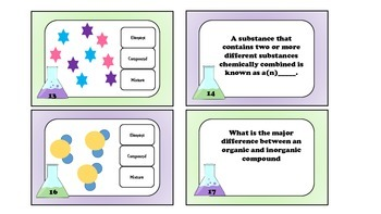 Classification of Matter Task Cards