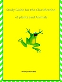 Classification of Plants and Animals Study Guide 5th grade