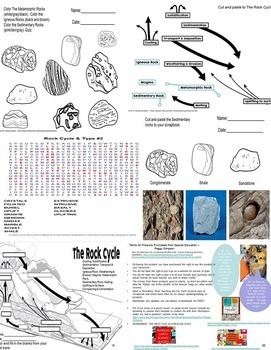 Classification of Rocks & The Rock Cycle Quiz Special Education/Autism/ELL